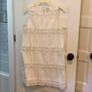 JCrew Factory White Shift Dress
